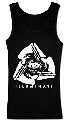 Illuminati Inverted Negative Triangle Hands Eye Pyramid Women's Tank Top Shirt XX-Large