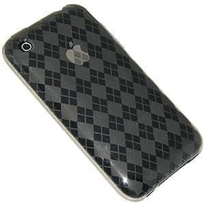 Amzer AMZ21182 Luxe Argyle Skin Case for iPhone 3G/3GS (Smoke Grey)