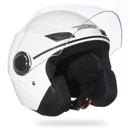 Casque Moto Scooter Jet NOX N630 Blanc