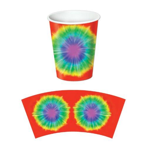 Tie-Dyed Beverage Cups   (8/Pkg) - 1