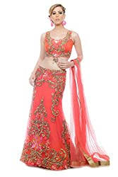 Ranjna Women's Lehenga With Blouse (24-90012_Shades Of Red_Small)