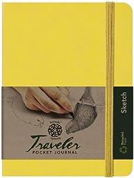 Pentalic Art Traveler Pocket Journal Sketch Book, 8\