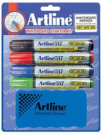 Artline 517 Whiteboard Marker Starter Kit - (Dry Erase Marker Starter Kit compare prices)