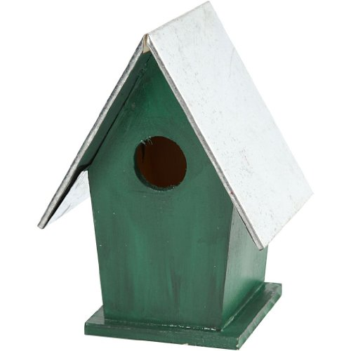 Creativ 13.5 x 11 x 19 cm Wooden Bird Box with Removeable Zinc Roof, Pine