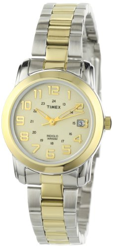 Timex Ladies Quartz Watch with Yellow Dial Analogue Display and Multicolour Stainless Steel Bracelet - T2N434PF