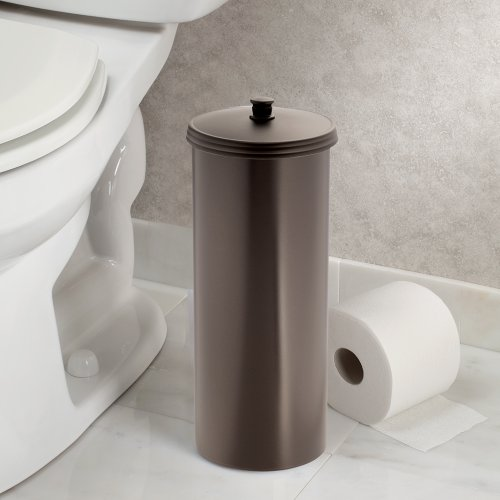 Toilet Holder Paper Tissue Bathroom Roll Bronze Canister Can W Lid Storage Ex