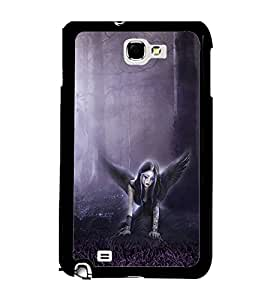 Printvisa 2D Printed Girly Designer back case cover for Samsung Galaxy Note 1 - D4152