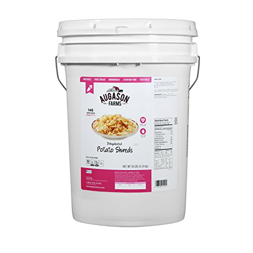 Augason Farms Dehydrated Potato Shreds Emergency Food Storage 10 Pound Pail (Freeze Dried Hash Browns compare prices)