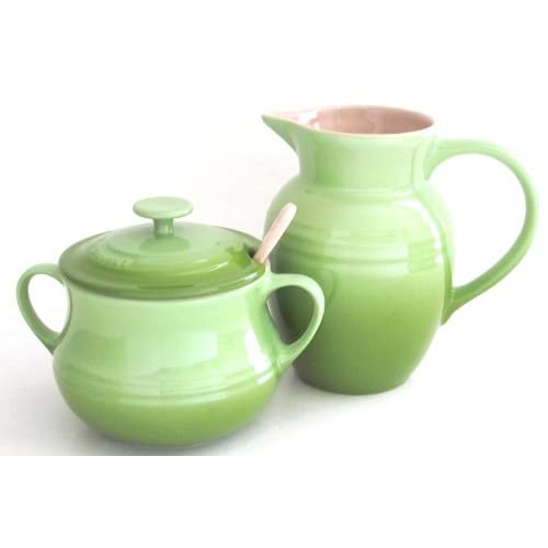 Amazon.com | Le Creuset Stoneware Cream and Sugar Set-Kiwi