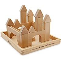 Melissa & Doug Building Stacking Block Set Made Exclusively For Disney - Castle Themed Wood Blocks