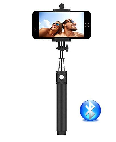 selfie stick kiwii bluetooth selfie stick with built in remote shutter with. Black Bedroom Furniture Sets. Home Design Ideas