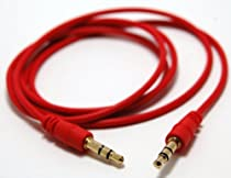 niceeshop(TM) Red 3FT 3.5MM Male To Male Stereo Audio Jack Cable AUX Cable For iPod MP3 MP4 CD