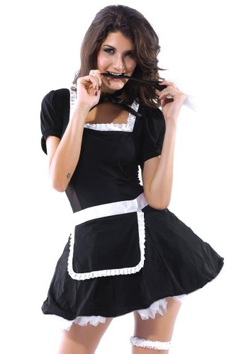 Dear-Lover Women's Midnight Maid Costume