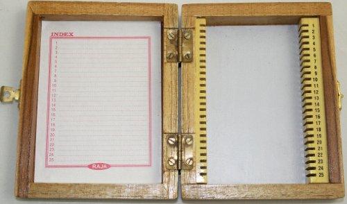 Slide Storage Box: Wood: 25