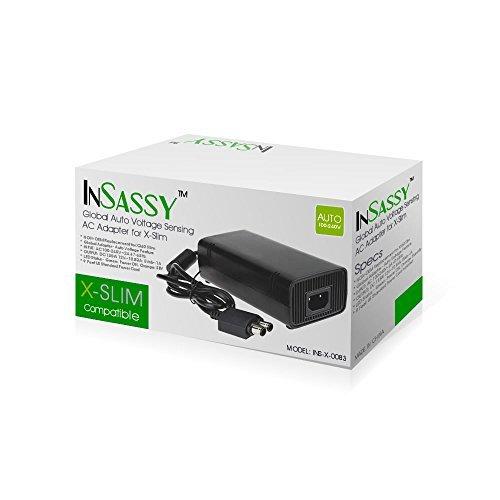 InSassy (TM) Xbox 360 Slim AC Adapter 100-240V 2A 47-63Hz (Xbox Ac Adapter compare prices)