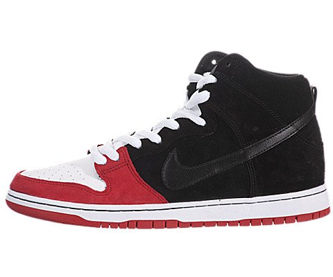 Nike Mens Skateboarding Shoes 313171061 Dunk High Premium Red Suede (9 D(M) Us)