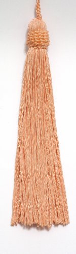 Set of 10 Peach / Salmon Color Crown Head Chainette Tassel, 5.5 Inch Long with 2 Inch Loop, Basic Trim Collection Style# CT055 Color: Salmon - E16