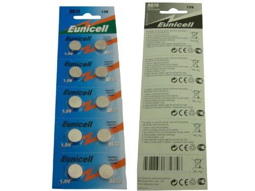 Eunicell AG13 Alkaline-Knopfzellen,