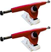 Randal R-11 Japan Red and White 180mm Longboard Skateboard Trucks Pair Limited Edition