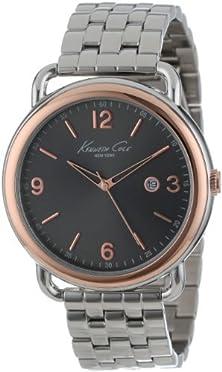 buy Kenneth Cole New York Men'S Kc9257 Modern Core Grey Dial Rose Gold Bezel Bracelet Watch