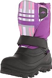 Tundra Quebec Snow Boot (Toddler/Little Kid/Big Kid),6 Big Kid W,Black/Purple Plaid