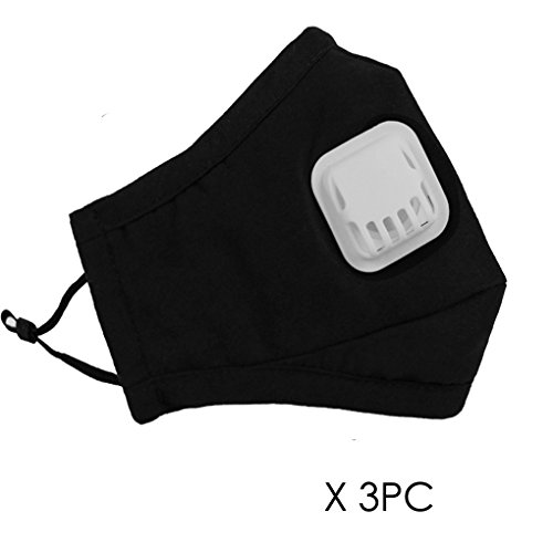 3-Pcs-Unisex-Dust-Allergy-Flu-Masks-Washable-Activated-Carbon-Cotton-Breath-Healthy-Safety-Respirator-Warm-Ski-Cycling-Half-Face-Mouth-Masks-Filters-Dust-Pollen-Allergens-Flu-Germs-Home-Surgical-Masks
