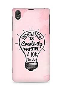 Amez Innovation is Creativity with a Job to do Back Cover For Sony Xperia Z1 C6902
