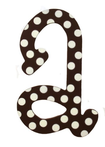 My Baby Sam Polka Dot Letter a, Brown/White
