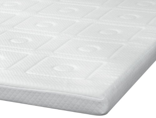Sensorpedic Luxury Extraordinaire 3-Inch Quilted Memory Foam Mattress Topper, King Size, White front-54532
