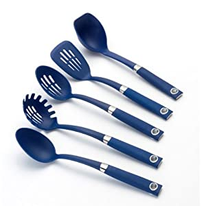Rachael Ray Tools 5-Piece Soft-Grip Tool Set, Blue