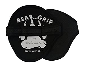 Bear Grip (Neoprene) - Hygienic alternative to weight lifting gym gloves (Black)