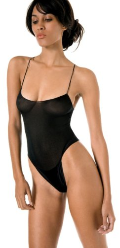 Nylon Opaque Teddy with Snap Crotch