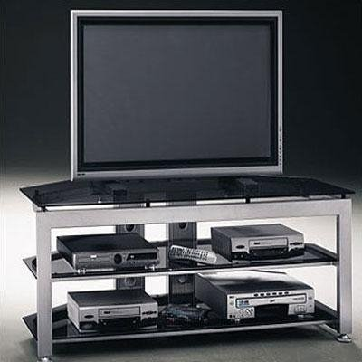 Bush Furniture VS74377-03 Satin Chrome Universal TV VCR Video Base