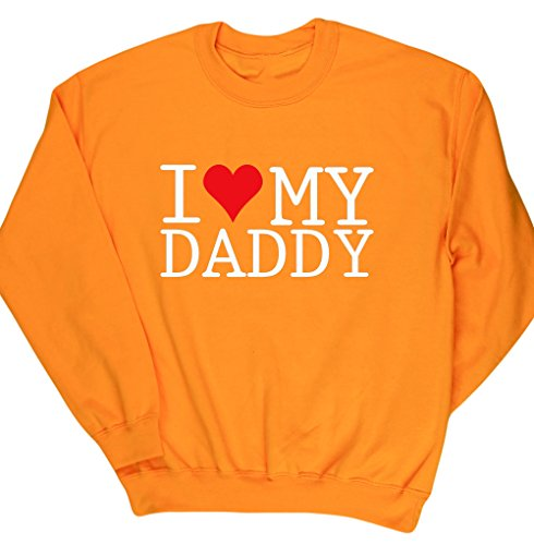 HippoWarehouse I love my daddy Pullover Felpa Unisex Gold Large