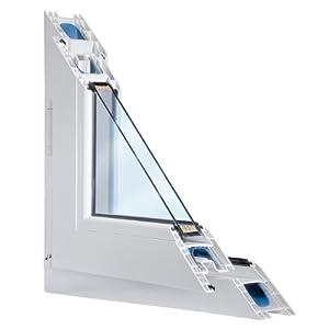 Fenster weiss 2-fach verglast 68x90 (BxH) kipp- und drehbar (DK-Rechts) als Maßanfertigung