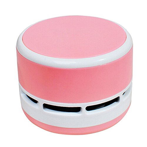 discoGoods Dust Cleaner Mini Table Dust Vacuum Cleaner Table Cleaning Assistance Keyboard Cleaning Dust Vacuum Children' Day Gift (Pink) (Steam Mop Ladybug compare prices)