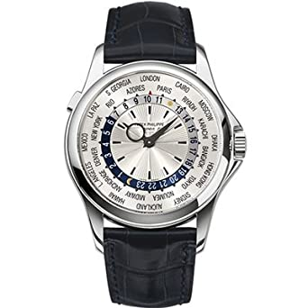 Patek Philipphe World Time 18K White Gold Watch - 5130G-019