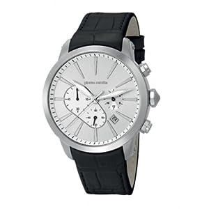 Pierre Cardin pc105431f09 Stainless Steel Case Black Calfskin Mineral Men's & Women's Watch