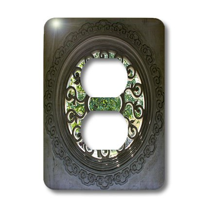 Lsp_164762_6 Albom Design Travel - Garden Seen Through Intricate Window Screen Photo From Suzhou, China - Light Switch Covers - 2 Plug Outlet Cover