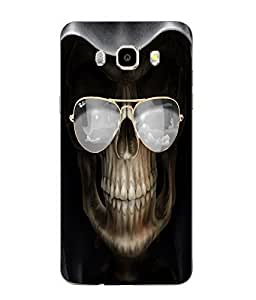 Make My Print Skull Printed Black Soft Back Cover For SAMSUNG Galaxy J5 - 6 (New 2016 Edition)