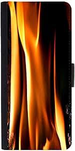 Snoogg Closeup Fire Flame Designer Protective Flip Case Cover For Samsung Gal...