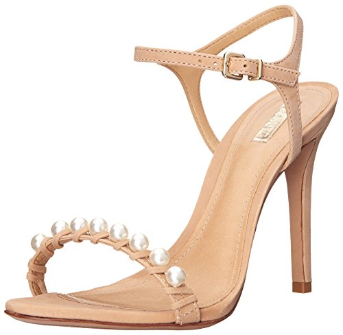 Schutz Women's Danielle Dress Sandal, Pale Peach Nubuck, 6.5 M US