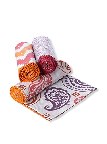 Masala Chevron Ikat Swaddle Set, Pink/Orange - 1