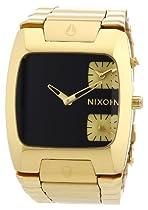 Nixon A060510 banks black dial gold stainless steel bracelet men watch NEW