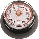 Kikkerland Magnetic Kitchen Timer, Black