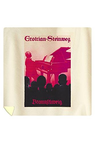 grotrian-steinweg-vintage-poster-artist-holwein-ludwig-germany-c-1934-88x88-queen-microfiber-duvet-c
