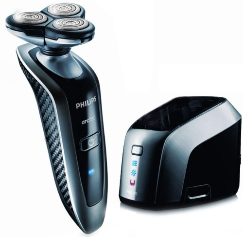 Philips RQ1075 ARCitec Rotary Shaver with Jet Clean System  &  LED Battery On/Off Indicator