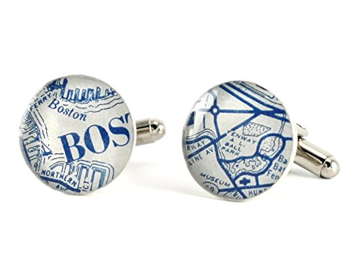 Boston Red Sox Fenway Park Map Cufflinks
