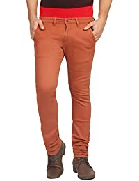 FN Jeans Stylish Rust Slim Fit Low Rise Chinos For Men | FNJ9141