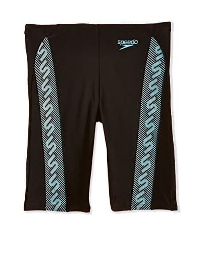 Speedo Shorts da Bagno Monogram [Nero/Azzurro]